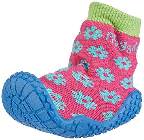 Playshoes Aqua-Socke Badeschuhe Blume 174805, Mädchen Aqua Schuhe, Pink (original 900), 30/31 EU