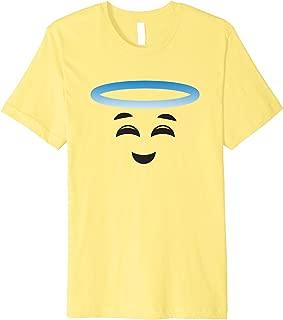 Angel Halo Smiling Face Halloween Emojis Easy DIY Costume Premium T-Shirt