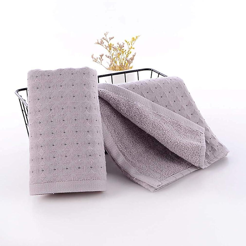 軍ナサニエル区行き当たりばったり綿のハンドタオルの速い乾燥したタオルの速い乾燥したタオル,Gray,34*75cm