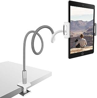Lamicall Soporte Tablet, Multiángulo Soporte Tablet : Soporte con Cuello de Cisne para Pad 2018 Pro 10.5/9.7, Pad Mini 2 3 4, Pad Air 2, Phone, Nintendo Switch, Samsung, Otras Tablets - Gris