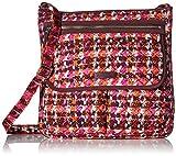 Vera Bradley Women's Signature Cotton Mailbag Crossbody Purse, Houndstooth Tweed