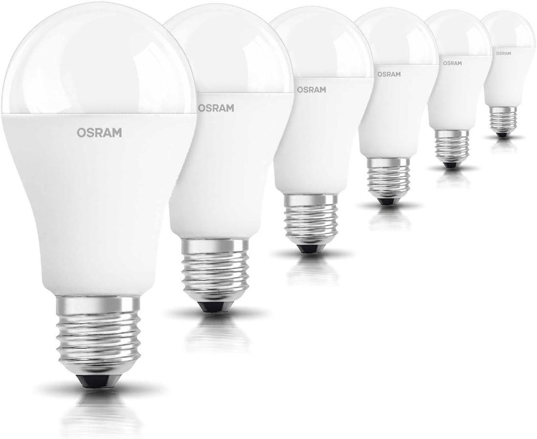 OSRAM 6-pack de bombilla LED de 14.5 W - Equivalente a 100 W, luz blanca cálida, E27 de rosca de tamaño grande, acabado mate, 1521 lumens,