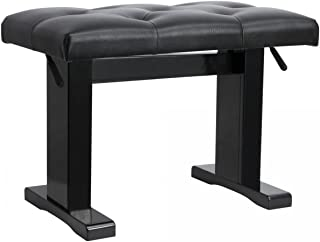 On-Stage KB9503B Height Adjustable Piano Bench, Black Gloss