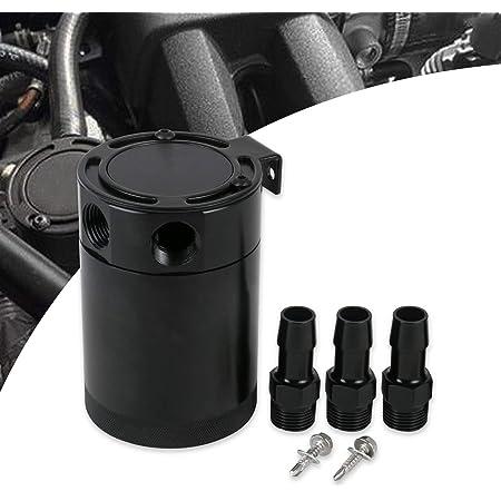 400ml Oil Catch Can Filter Kfz Auto Gogolo 3 8 Aluminium ölfangbehälter Kann Motor Luft Öl Separator Universell 3 Way Schwarz Auto