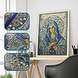 Orgrul DIY 5D Square Diamond Painting Nuestra Dame, pintura por números, cuadro de diamantes para niños, juego de punto de cruz, cuadro de pared, decoración de pared, 30 x 40 cm