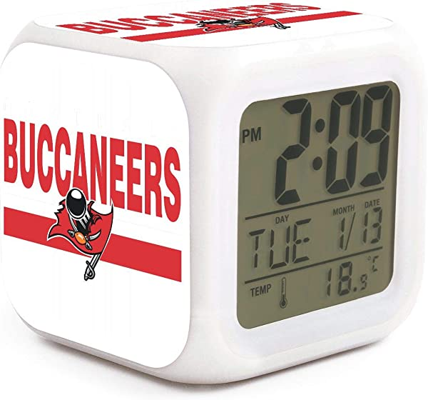 Florida State Tampa Bay Alarm Clock Displays Time Date And Temperature Soft Nightlight For Kids Home Office Bedroom Heavy Sleepers