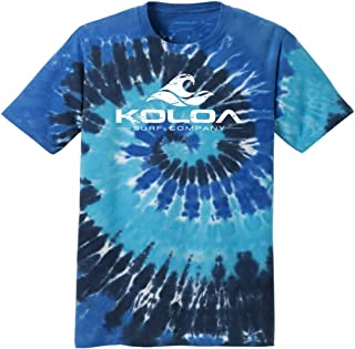 Koloa Surf Co. Vintage Wave Colorful Tie-Dye T-Shirts in 17 Colors. Sizes: S-4XL