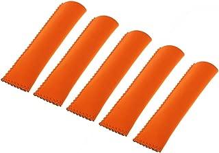 Premium Ice Holder Popsicle Ice Lolly Grips Icy Pole Holders Neoprene - Orange, Diameter: About 2.5cm