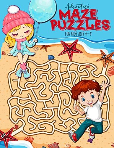 Adventure Maze Puzzles for Kids ages 4-8: maze books for kids 4-6 | mazes for kids | maze book for kids | Fun adventure puzzles | 8,5 x 11' | 70 P