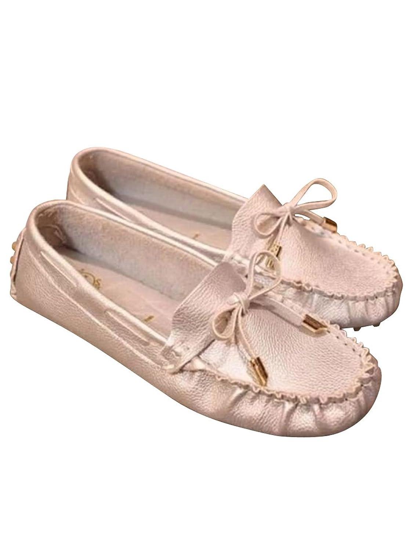 (フルールドリス)Fluer de lis モカシン シルバー ホワイト ドライビングシューズ スニーカー ローヒール シューズ 婦人靴 アパレル レディース ファッション 服 ft456-k1-9231s36