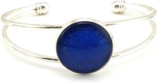 Stechschmuck Armband Armreif Armspange Handmade Handgefertigt Blau Dunkelblau Silber Farben Damen Kinder Kitsch Kawaii 22m...