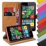 Eximmobile - Book Hülle Handyhülle für Microsoft Lumia 950 mit Kartenfächer in Blau | Schutzhülle aus Kunstleder | Handytasche als Flip Hülle Cover | Handy Tasche | Etui Hülle Kunstledertasche