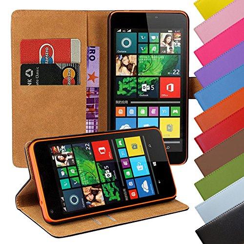 Eximmobile - Book Hülle Handyhülle für Nokia Lumia 1520 mit Kartenfächer in Schwarz | Schutzhülle aus Kunstleder | Handytasche als Flip Hülle Cover | Handy Tasche | Etui Hülle Kunstledertasche