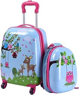 "Custpromo 2 pcs ABS Kids Luggage Set 16"" Carry On Luggage and 12"" Backpacks Set"