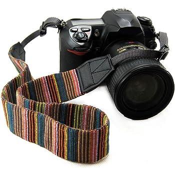 Fujifilm Sony,Pentax LIFEMATE Camera Shoulder Strap Belt for All DSLR Camera Multi Color Neck Belt for Canon Nikon and Digital Camera Blue National Style