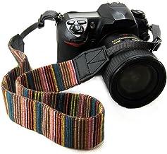 CHMETE Bohemia Vintage Universal Adjustable Camera Camcorder Shoulder Neck Strap Belt with Harness Adapter Fits for DSLR Camera