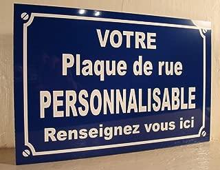 Personnalisé Famille Nom Rue Signe