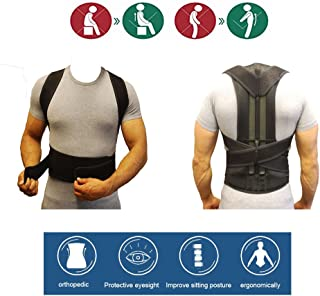 Back Posture Corrector & Adjustable Back Support - Premium Aid Back Brace Helps with Bad Shoulder,Clavicle Alignment and Cervical Neck Pain - Comfortable Medical Correction Device (XL)