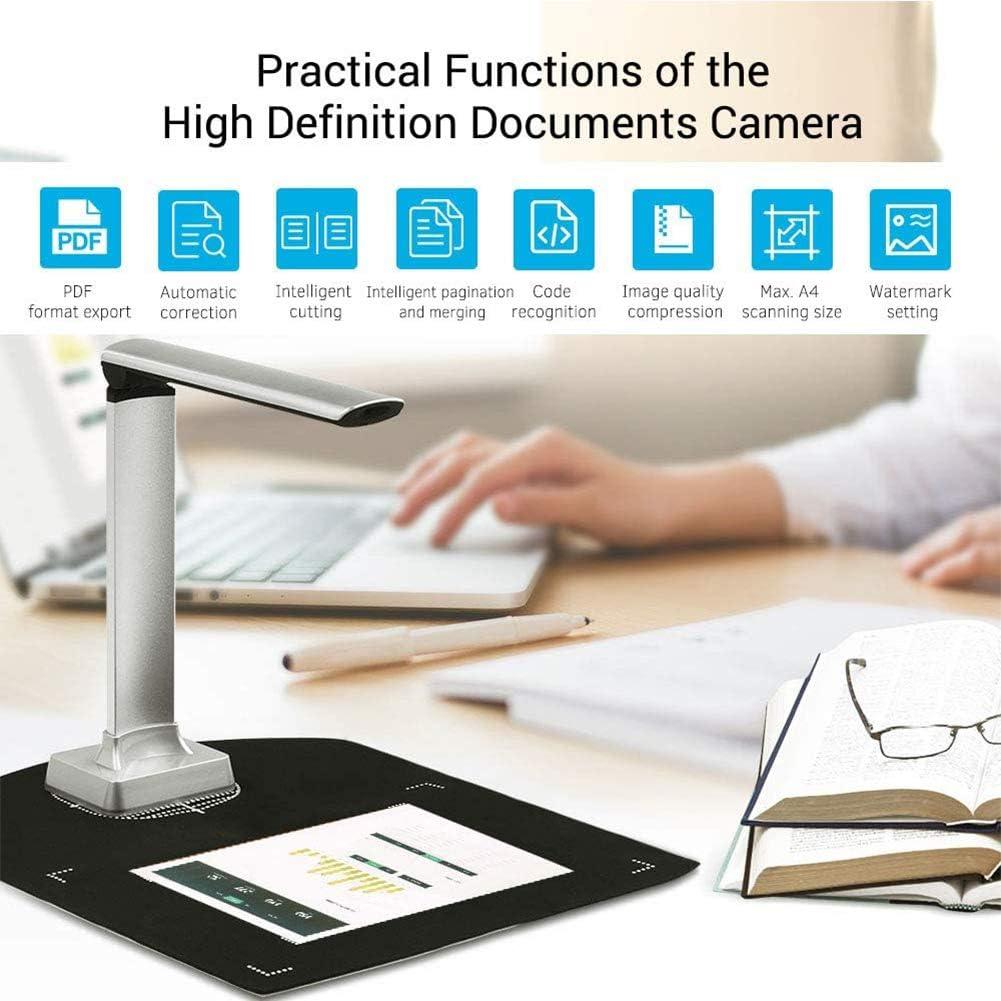 Standalone und PC-Betrieb Hochaufl/ösender Dokumentenkamera und Visualizer f/ür A4 Mehrsprachige OCR f/ür Klassenzimmer Office Library Bank,BK32 EnweNge 15MP High Definition Dokumentenkamera