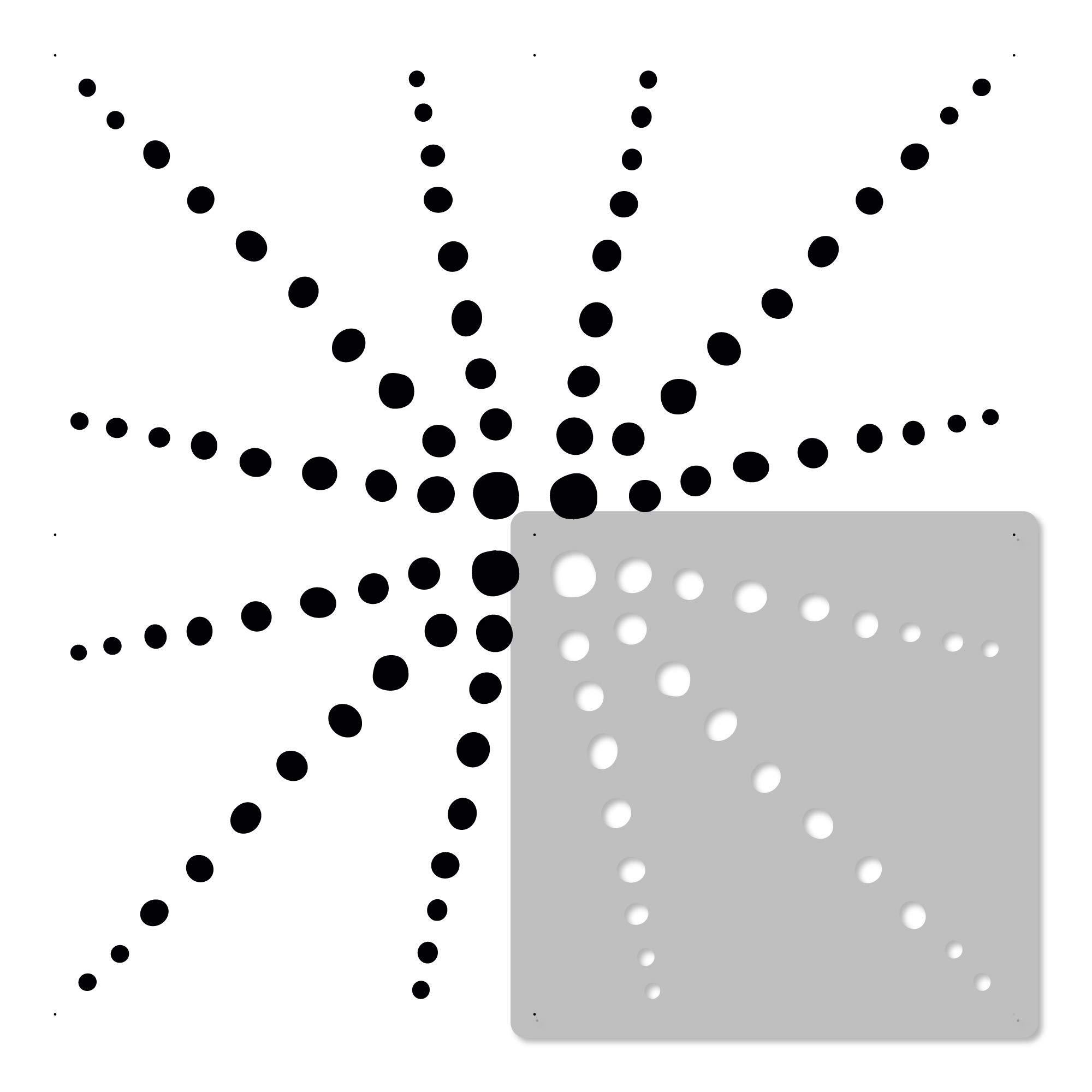 ENNA Tile reusable PLASTIC Stencil //// Moroccan Geometric //// Floor Wall