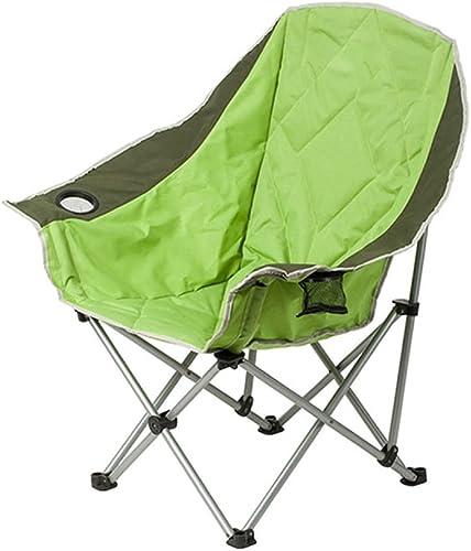 LDFN Portable Chaise De Camping Outdoor Fer Multifonctionnel Chaise Pêche Pique-Nique Plage Chaise Longue,vert-50  43  100cm