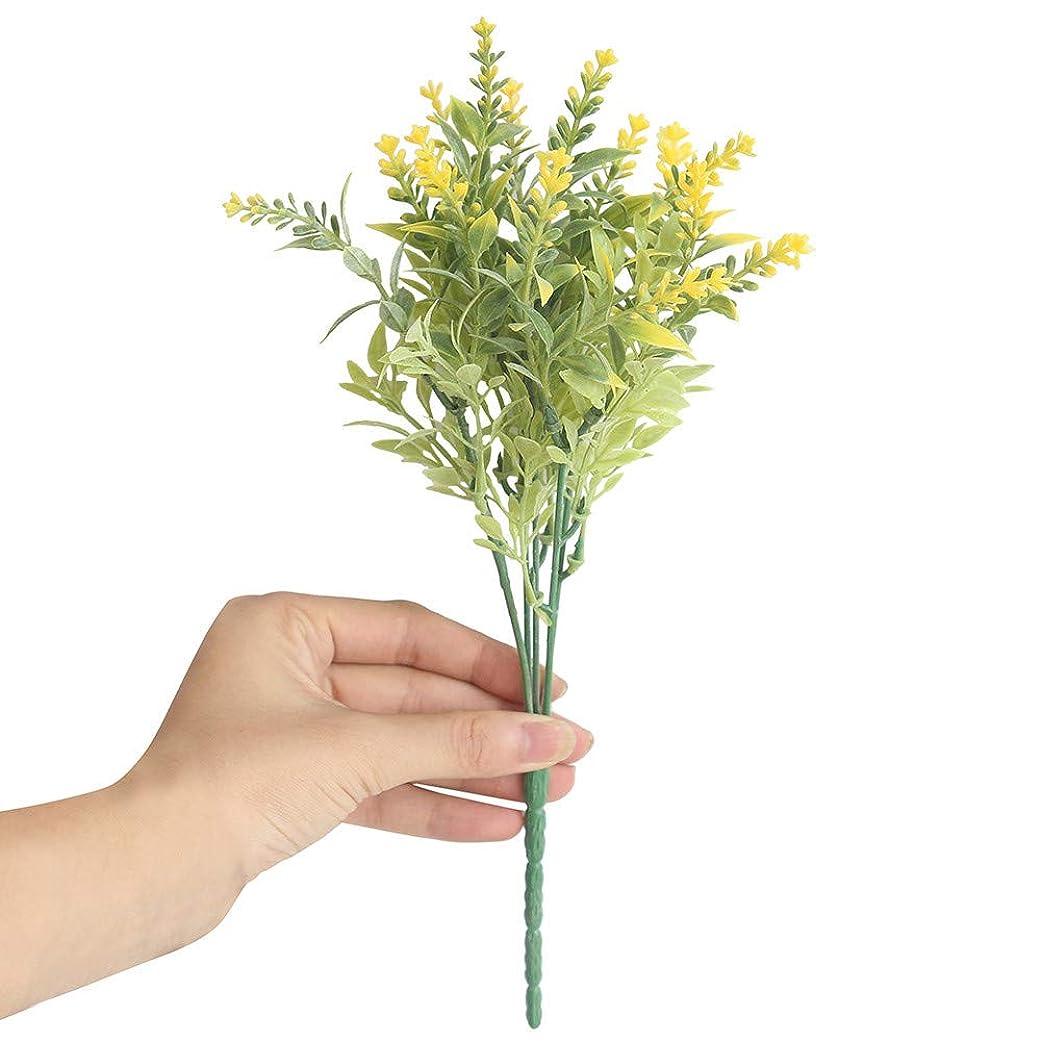 ありがたい考えた広々とした造花 枯れない花 15本セット 人工花 ラベンダー 人工ブライダルバンチ ウェディング パーティー ホームデコレーション