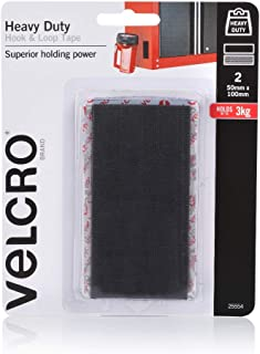 VELCRO Brand - Heavy Duty Hook & Loop Fasteners | Superior Holding Power on Rough Surface | 50mm x 100mm Strips | Pack of ...