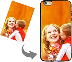 Personalized Custom Phone Case for iPhone 6 Plus/ 6s Plus, DIY Create Your Own Photo Design Custom Case-TPU Shock Absorbing Protector Carrying Case Keepsake Gift(Black, for iPhone 6 Plus/ 6S Plus)