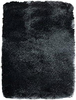 thedecofactory Mat Toudoux 60x90PES, Polyester, Black, 90x 60x 1.5cm