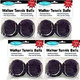 Top Glides Precut Walker Tennis Ball Glides - Black - 4 Pairs