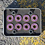 IMPORX 8 Pièces Roulements à Billes ABEC 11 Skateboard Roulements à Roulettes,ultrarapide en acier chromé,608 2RS pour skateboard / planche à roulettes patin