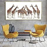 KWzEQ Lienzo Pintura Sala de Estar con Lienzo Pintura Animal Lienzo Arte,Pintura sin Marco,45x90cm