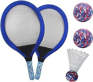 YIMORE Raquetas de Tenis Badminton Racket Set con Bolas Juguete de Deporte Playa al Aire Libre para niños 3 4 5 (Azul)