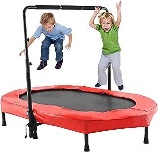 comprar comparacion Profun Mini Trampolín Fitness Interior / Exterior - Manillares Ajustables y Sistema de Cuerda Elástica para Niños / Adulto...