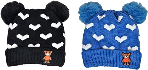 Mahi Fashion Baby Caps for Winters (0-2 Years, Multicolor)
