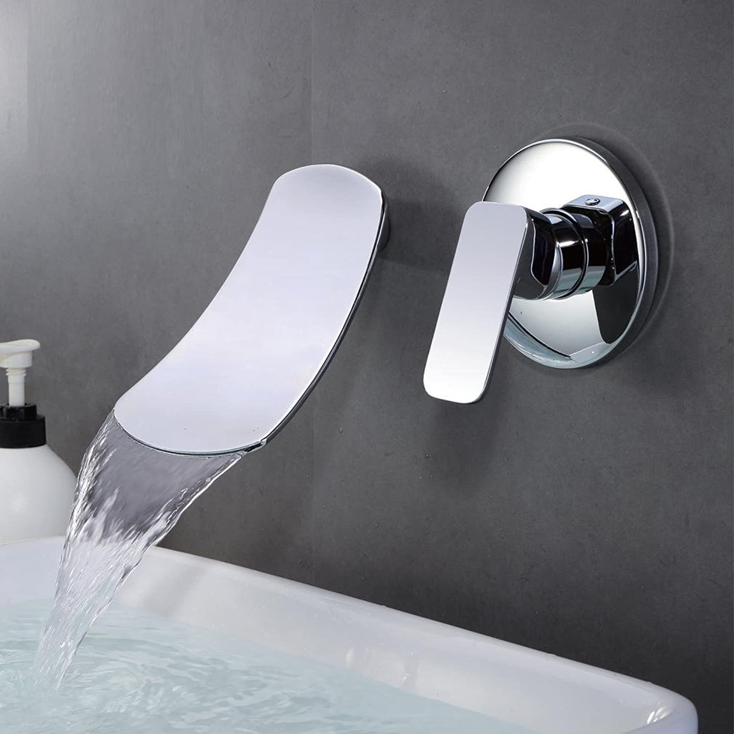 WINZSC Wall - entry waterfall faucet 304 stainless steel washbasin faucet 4 interface cold and hot mixed faucet wx5251510