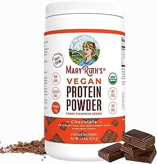 Organic Protein Powder Plant-Based (Creamy Chocolate Fudge) by MaryRuth's Vegan, Gluten Free, Non-GMO, Soy Free, Dairy Fre...