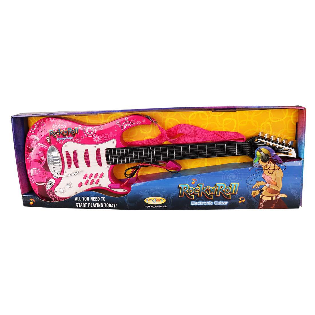 Gettesy Guitarra Electrica Juguete Niños 6 Cuerdas Juguete de ...