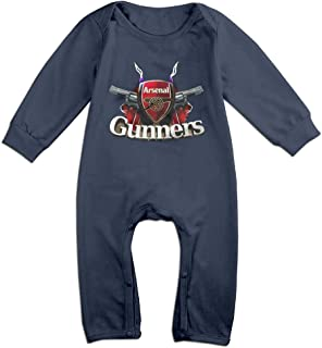 Baby Bodysuit Arsenal F.C. Logo Football Club Long-Sleeve Romper T-Shirt