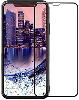 iPhone X/XS 2017 5.8 Screen Protector KIQ Tempered Glass 10D HD Shatterproof Anti-Scratch Self-Adhere Full Cover Easy to Install for Apple iPhone X 2017 iPhone Xs 2018 [10D Black]
