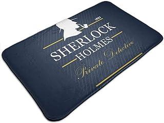 HUTTGIGH Sherlock Holmes Private Detective 1887 - Felpudo antideslizante para puerta de entrada, alfombra de baño, alfombr...
