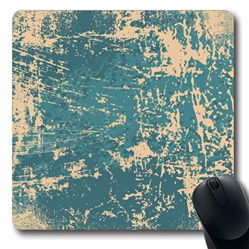 Jamron Mousepad OblongRustic Grungy Brushed Veraltet Distressed Ripped Bad Abstract Verwitterte alte zerlumpte Wandfarbe Zerrissene rutschfeste Gummimaus Pad Office Computer Laptop Spiele Mat.-Nr.