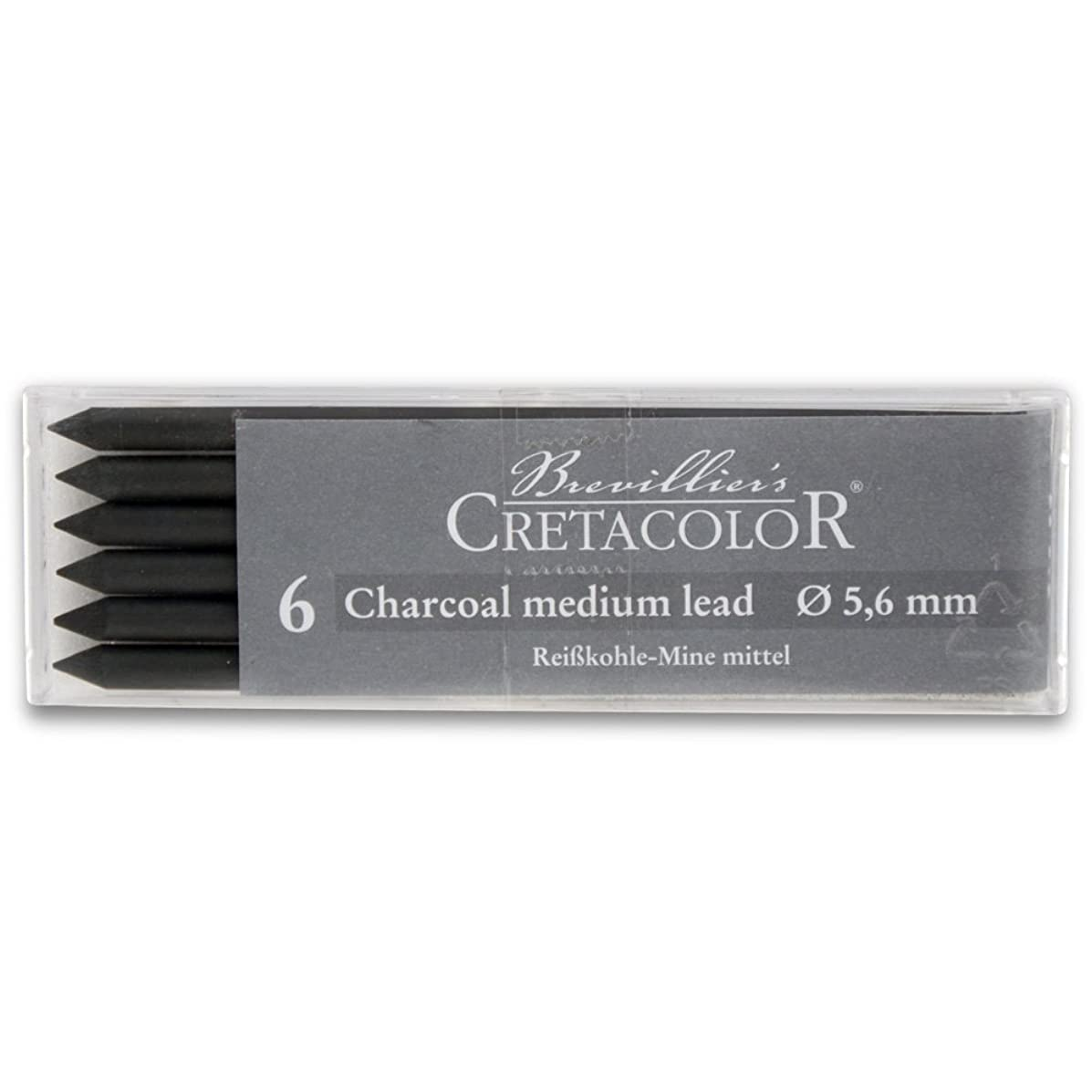 Cretacolor Medium Charcoal Lead 6/Pack