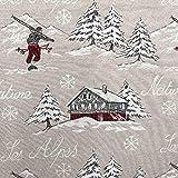 Kt KILOtela Tela de tapicería Navidad - Jacquard Gobelino - Retal de 100 cm Largo x 140 cm Ancho |...