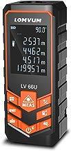 Medidor Laser de Distancia,LOMVUM 50M Profesional Metro Laser,Telemetro Laser con Precisión 1mm,Niveles de Electronico
