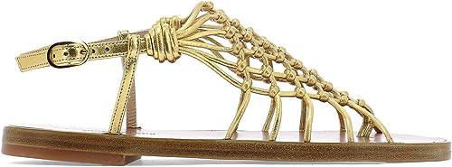 Stuart Weißzman SEASIDEMETALLICNAPPAGold Damen Gold Leder Sandalen