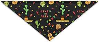 Cinco De Mayo Mexican Holiday Pattern Triangle Pet Scarf Dog Bandana Pet Collars For Pet Cats And Puppies