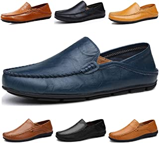 Men's Driving Shoes Premium Genuine Leather Fashion Slipper Casual Slip On Loafers Shoes