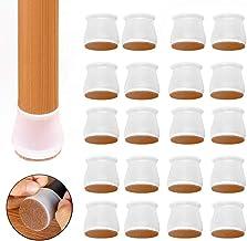 Stoel been vloerbeschermers 32 stks transparant duidelijk siliconen stoel been caps meubels schuifregelaars voor hardhoute...
