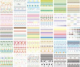 60 Sheets Stickers Set Free Cutting Stickers for Planner DIY Crafts Diary (Color Collection-ts-scscj)